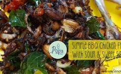 Simple BBQ Chicken Fry with Sour and Sweet Salad